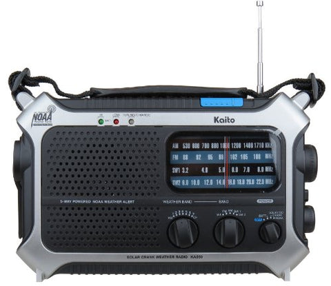 Kaito 5-Way Powered AM/FM Shortwave NOAA Weather Emergency