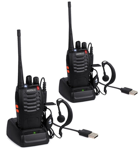 ESYNiC Walkie Talkies 2 Long Range Two-Way Radio USB Cable Charging