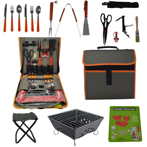 Barbeque Grill Set with 22 Pieces
