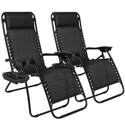 Zero Gravity Chairs Case Of (2) Patio Chairs