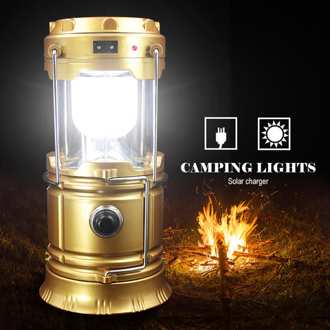 Outdoor Flashlights Luminaire LED 6LEDs Solar Power Collapsible Portable Lamp LED Rechargeable Hand Lamp Camping Lantern Light