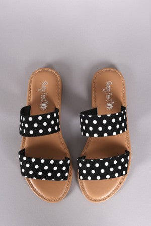 'Happy Feet' Double Band Flats