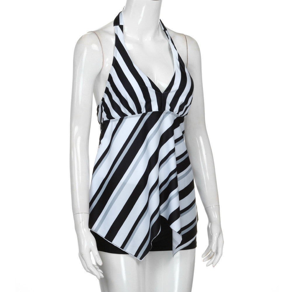 Tankini Sets with Shorts Ladies Swimming Two Piece Swimsuits