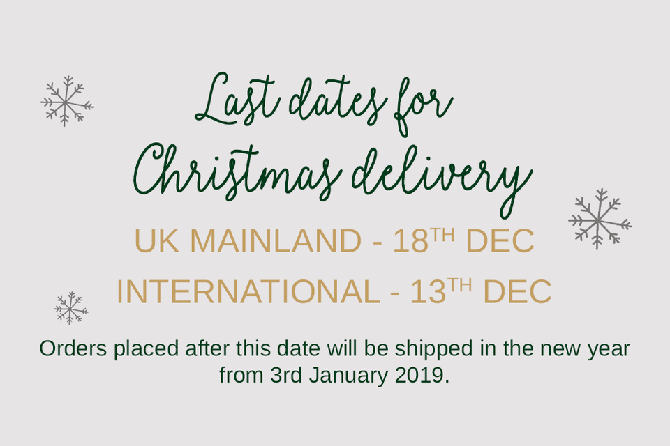 Christmas delivery dates - Funky Laser