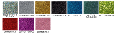 glitter acrylic colours - funky laser