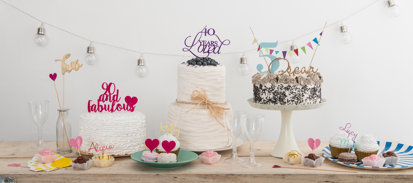 Cake Toppers, Wedding Decorations and Jewellery | Funky Laser