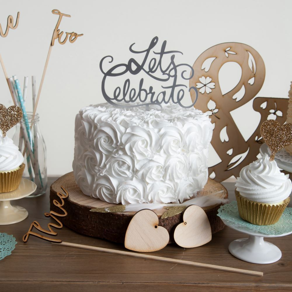 Let's Celebrate Party Cake Topper - Funky Laser