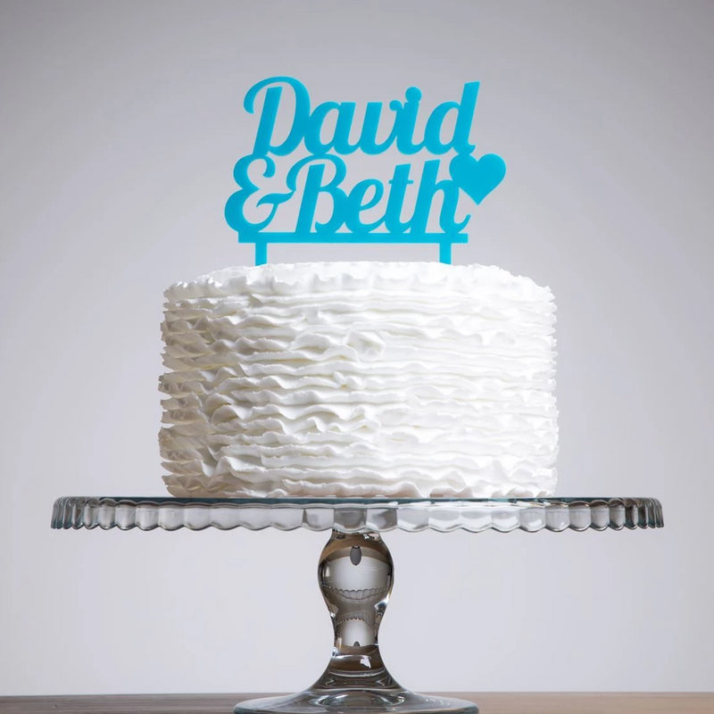 Personalised Bold Names Cake Topper - Funky Laser