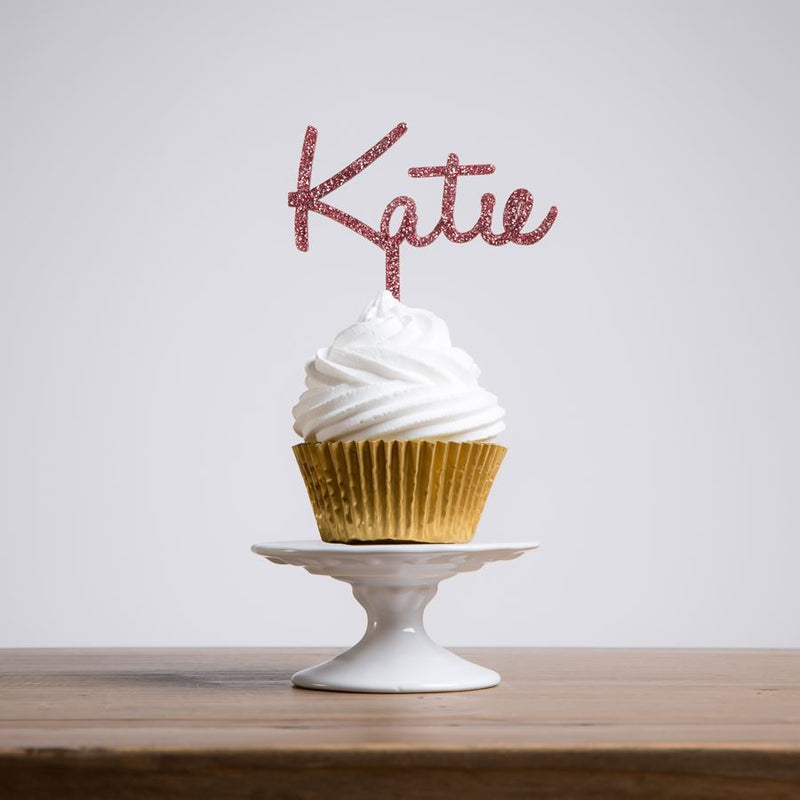 Personalised Handwritten Name Cupcake Topper - Funky Laser
