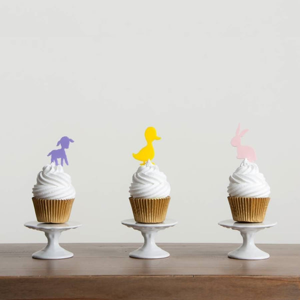 Children's Easter Cupcake Decorations - Set of Six - Funky Laser