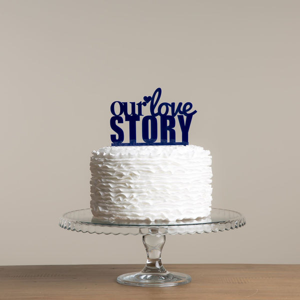 Our Love Story Cake Topper - Funky Laser