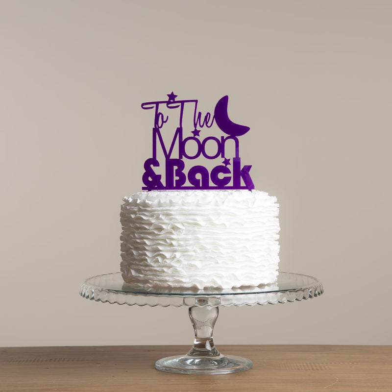 To The Moon And Back Cake Topper - Funky Laser