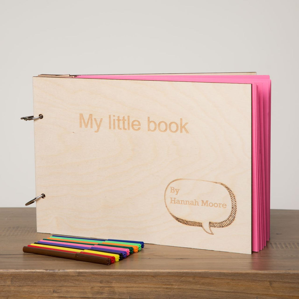 Children's Personalised Drawing Journal - Funky Laser