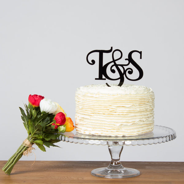 personalised initials cake topper