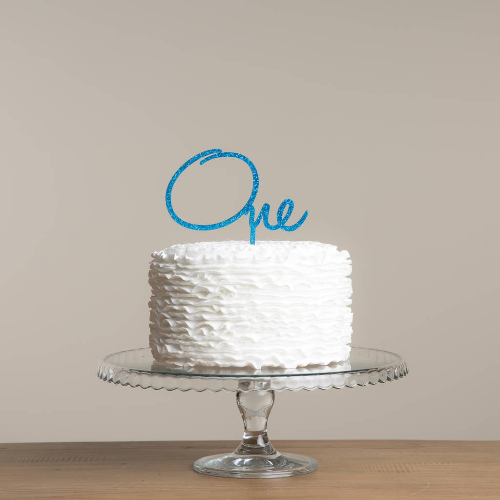 Personalised Name, Word Or Number Cake Topper - Funky Laser