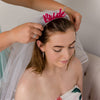 Bride Alice Band Headband With Detachable Veil - Funky Laser