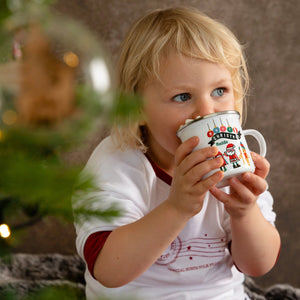 Personalised Children's Christmas Characters Enamel Mug