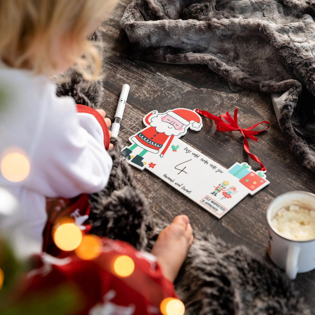 Personalised Days Until Christmas Countdown Advent Sign