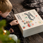 Personalised Children's Christmas Eve Wooden Gift Box - Funky Laser