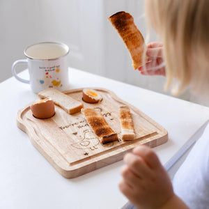 Personalised Chick Egg And Toast Chopping Board - Funky Laser