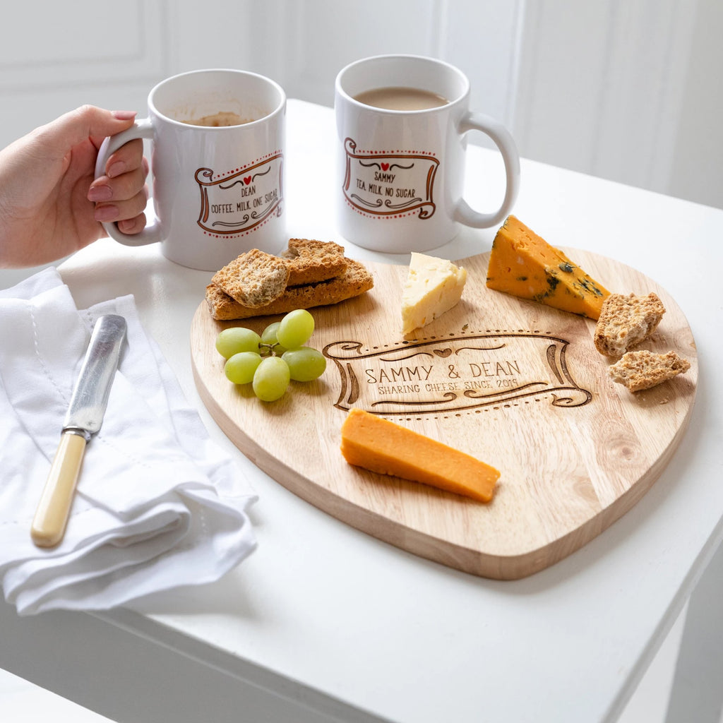 Personalised Chopping/Cheese Board And Mug Gift Set