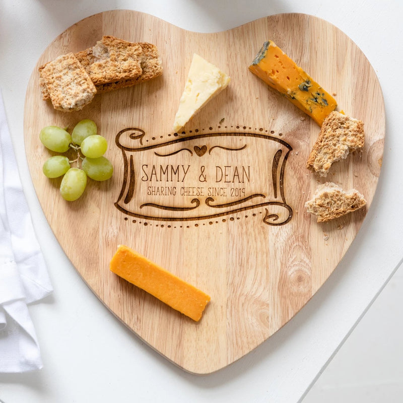 Personalised Cheese Sharing Board/Chopping Board Gift - Funky Laser