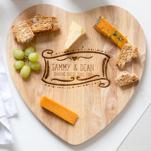 Personalised Chopping/Cheese Board And Mug Gift Set - Funky Laser