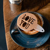 Personalised Set Of Two Coffee Cake Stencil Dusters - Funky Laser