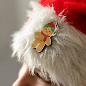 Christmas Gingerbread Man Pin - Funky Laser