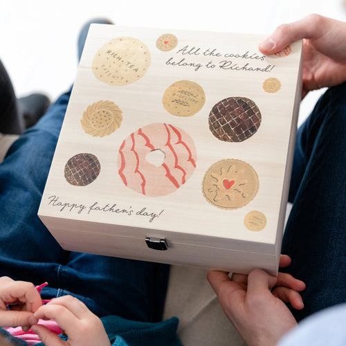 Personalised Cookies Keepsake Gift Box - Funky Laser