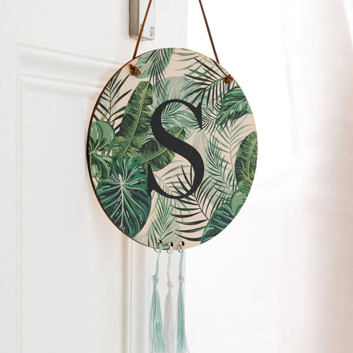 Tropical Initial Wall Art Hanging Decoration