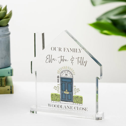 Our Family Home Freestanding Acrylic Block