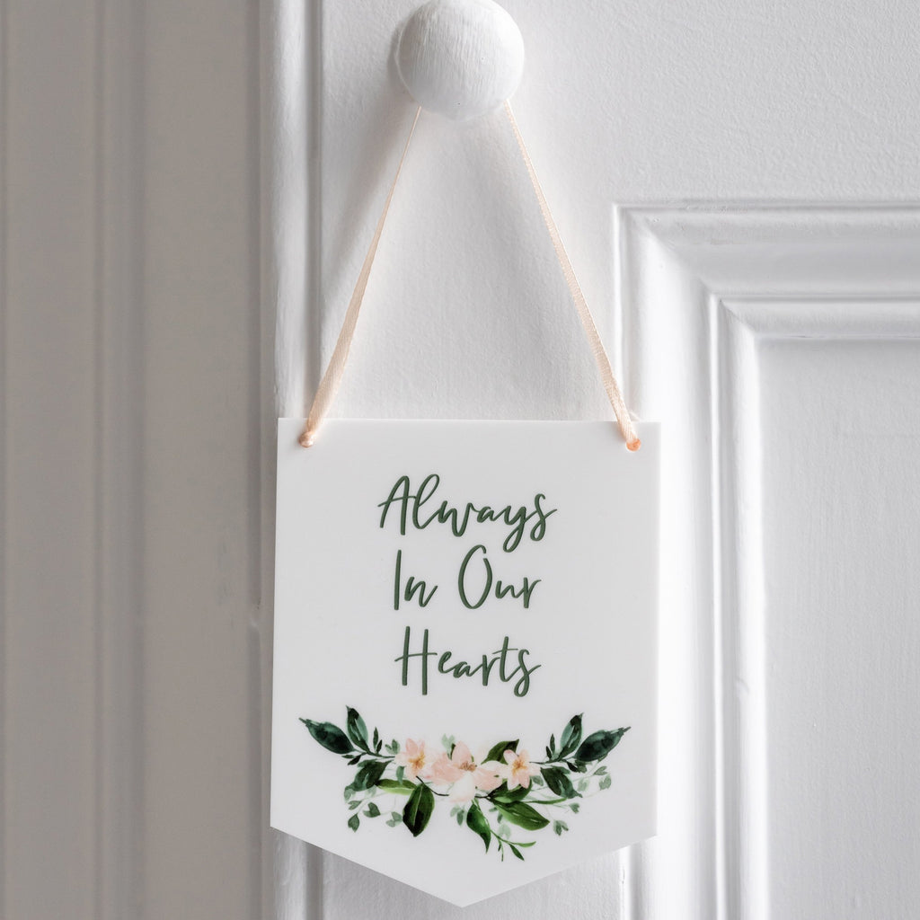Always In Our Hearts Mini Acrylic Token Wall Hanging