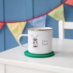 Personalised Woodland Rabbit Enamel Mug - Funky Laser