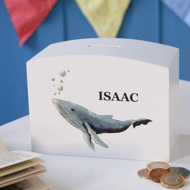 Personalised Whale Money Pot Piggy Bank