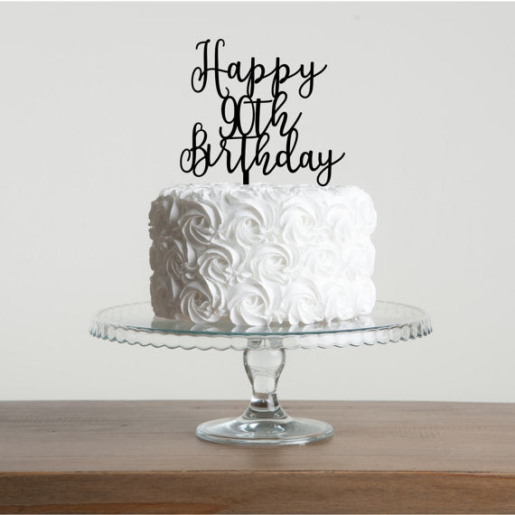 Happy 90th Birthday Cake Topper