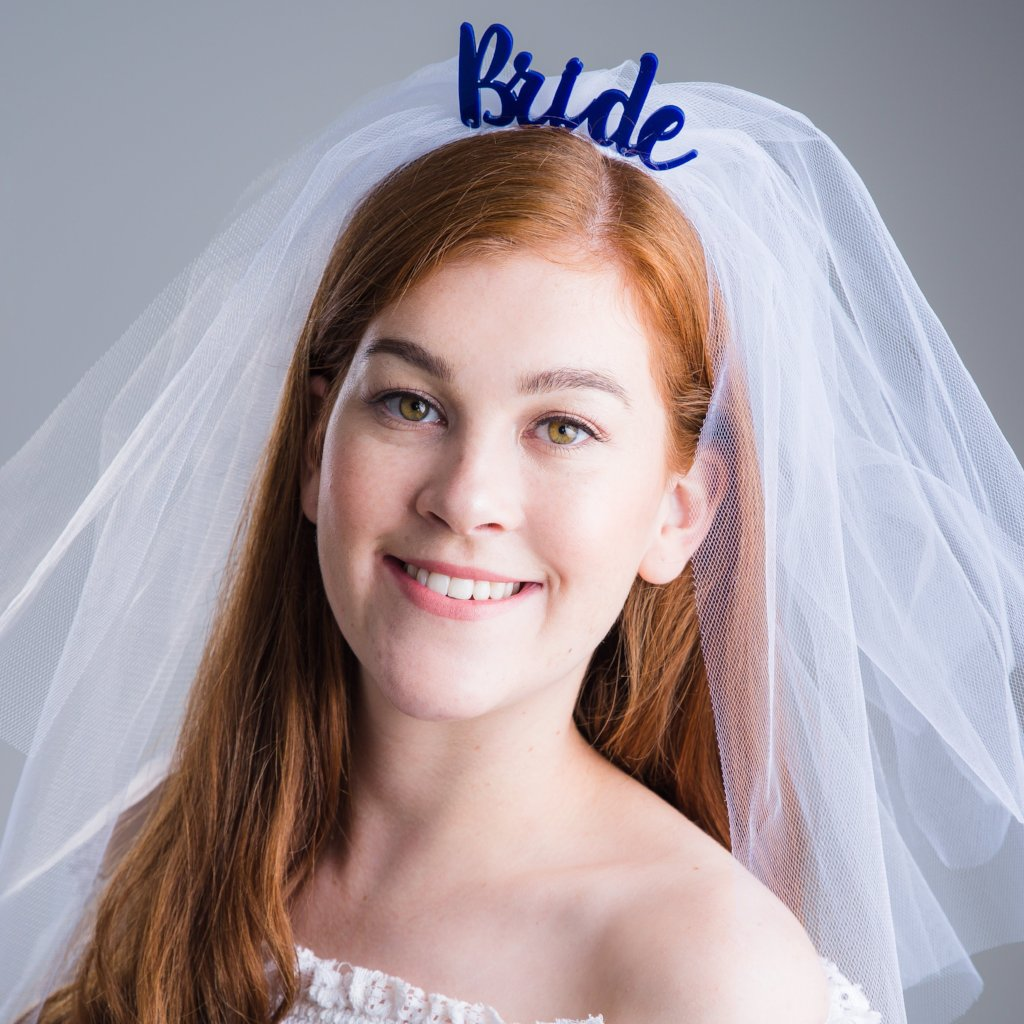 Bride With Wedding Veil Headband - Funky Laser