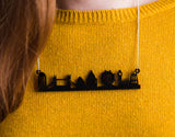 London Skyline Acrylic Necklace