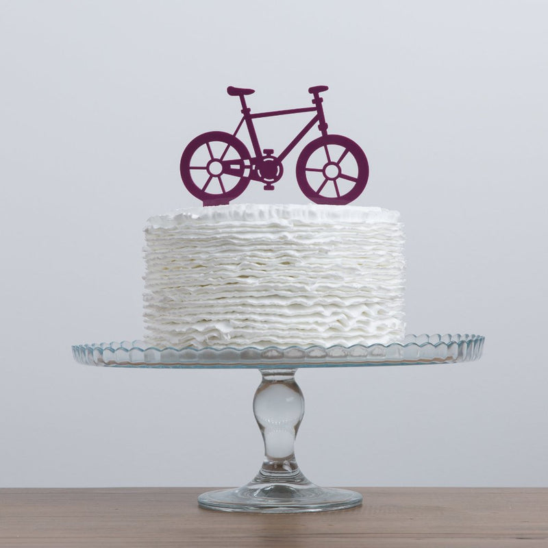 Bicycle Cake Topper - Funky Laser