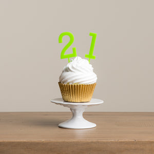Simple Number Cake Toppers - Funky Laser