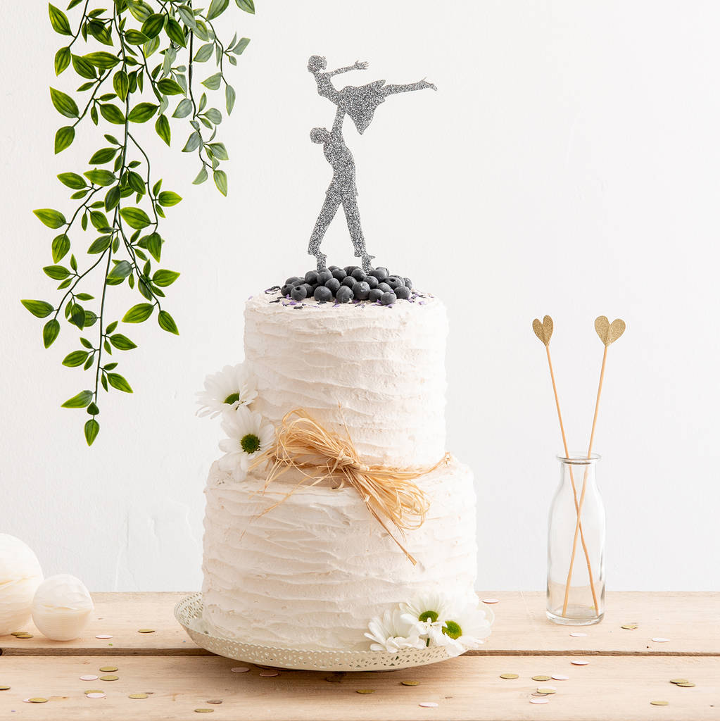 Dancing Inspired Acrylic Wedding Cake Topper - Funky Laser
