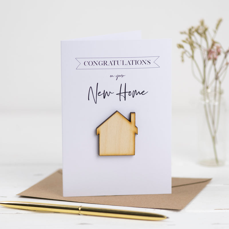 Congratulations On Your Home Card - Funky Laser