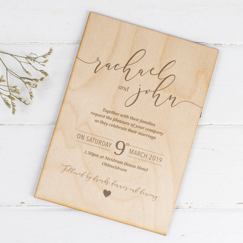 Laser Cut Custom Printed Invitations Sample Pack