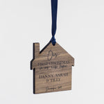 Personalised New Home Walnut Hanging Decoration - Funky Laser