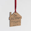 Personalised New Home Cherry Wood Hanging Decoration - Funky Laser