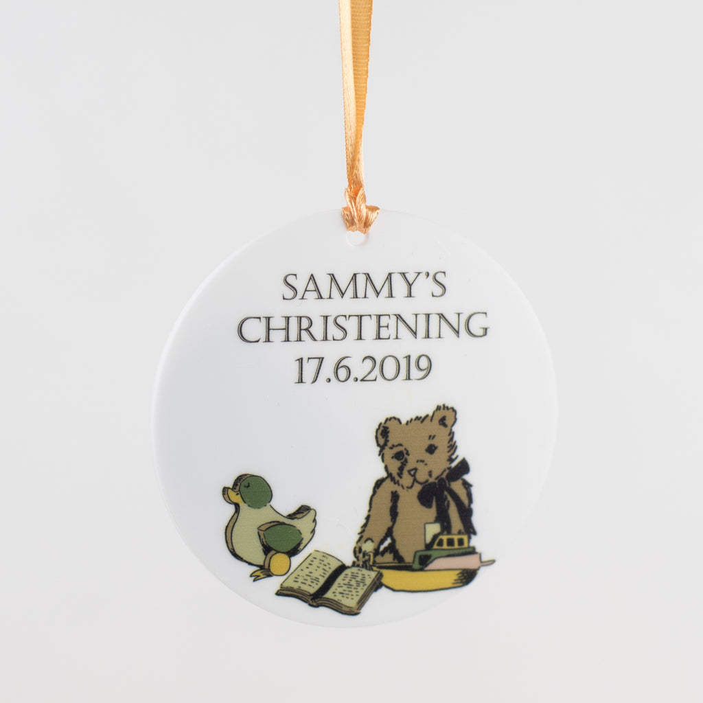 Baby's Christening Token Hanging Decoration - Funky Laser