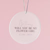 Will You Be My Bridesmaid Card With Circle Decoration