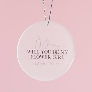 Will You Be My Bridesmaid Card With Circle Decoration - Funky Laser