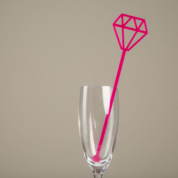Diamond Drink Stirrers Set of 6 - Funky Laser