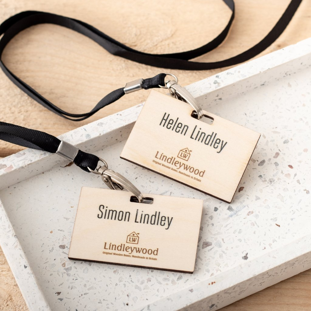 Custom Printed Birch Wood Branded Lanyards - Funky Laser